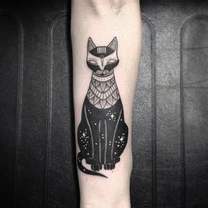 tattoo  gato egipcio