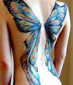 tatuaje de alas de mariposa