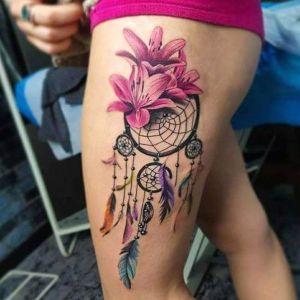 tatuaje para mujer de atrapasueños