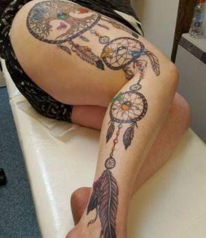 tatuajes de atrapasueños para mujeres