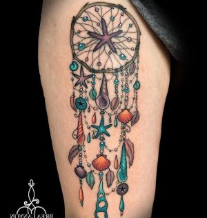 tatuajes hermosos de atrapasueños