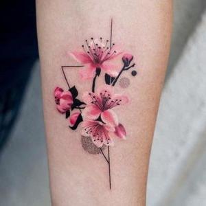 tatuajes originales de flor de cerezo