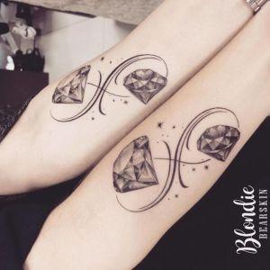 tatuajes de diamantes infinitos
