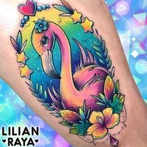 tatuajes hermosos de flamencos