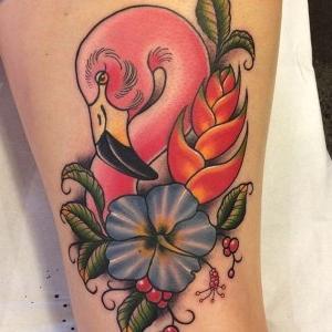 tatuajes lindos de flamencos