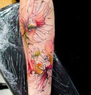 original tatuaje de flores