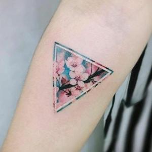 tatuaje flores pequeño