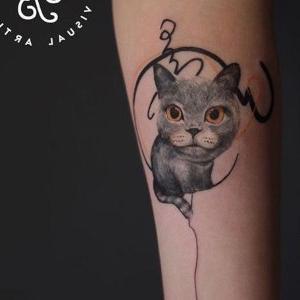 tatuajes bonitos de gatos
