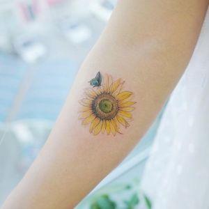tatuaje de girasol para chicas