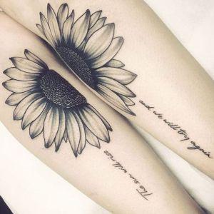 tatuaje de girasol para parejas