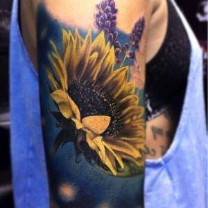 tatuaje para mujer de girasoles