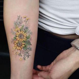 tatuajes bonitos de girasoles