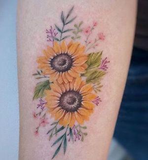 tatuajes hermosos de girasoles