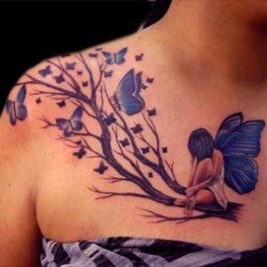 tatuaje de hadas y mariposas