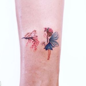 tatuaje pequeño de hada
