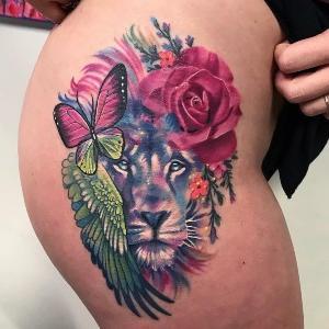 imagen de tatuaje de leones