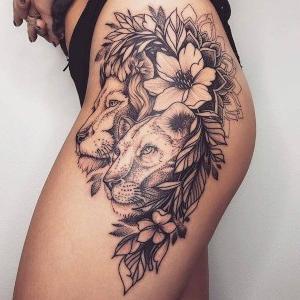 los mejores tatuajes de leones para mujeres