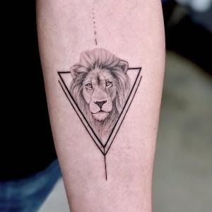 tatuaje original de leon