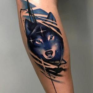 diseño de tatuajes de lobo