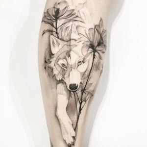 tatuajes bonitos de lobos