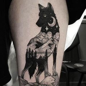 tatuajes chidos de lobos