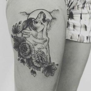 tatuajes lindos para mujeres de lobos