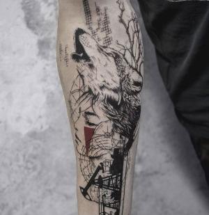 tatuajes originales de lobo