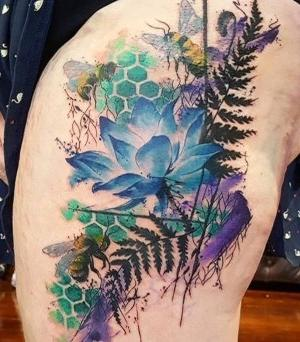 los tatuajes mas bonitos de flor de loto