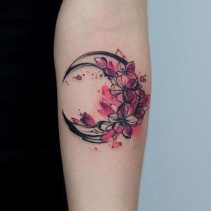 tatuaje bosquejo de luna