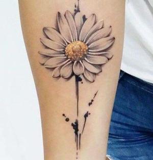 fotos de tatuajes de margaritas