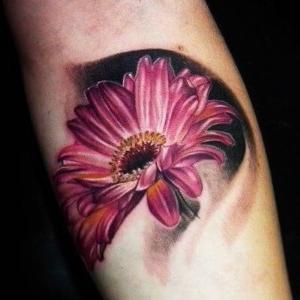 tattoo de margarita de color