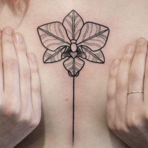 imagen de tatuaje de orquídea