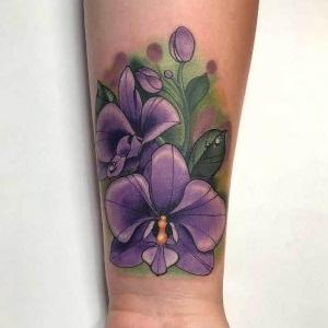 tattoo de orquídeas