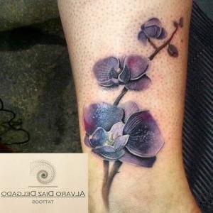tattoos de orquídeas