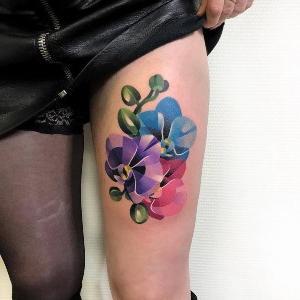 tatuaje original de orquídea