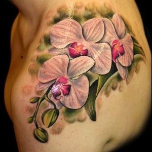 tatuajes de orquideas para mujeresç