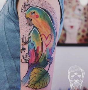 tatuaje para mujeres de pajaro