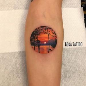 tattoo pequeño atardecer