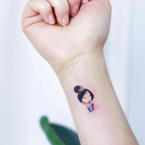 tatuajes pequeños Disney Pocahontas