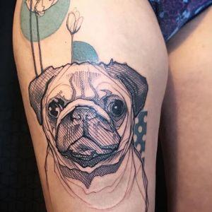 tatuaje de pug