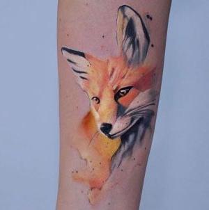 tatuaje de cara de zorro