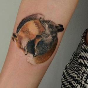 tatuaje de zorros
