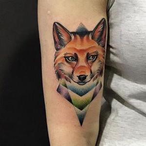 tatuaje en el brazo de zorro