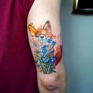 tatuaje para mujer de zorro